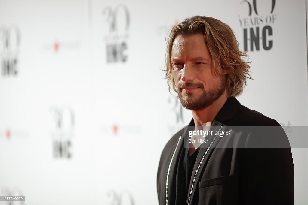 Gabriel Aubry attends the celebration for 30 Years of INC Collection at IAC Building on September 10 2015 in New York City