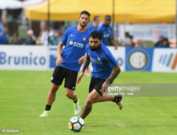 Gabriel Barbosa Almeida of FC Internazionale in action during a FC Internazionale training session on July 10 2017 in Reischach near Bruneck Italy