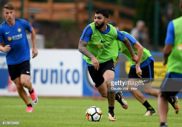 Gabriel Barbosa Almeida of FC Internazionale in action during the FC Internazionale training session on July 11 2017 in Reischach near Bruneck Italy