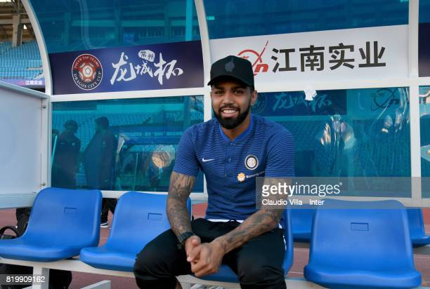 Gabriel Barbosa Almeida of FC Internazionale looks on before the press conference on July 20 2017 in Changzhou China