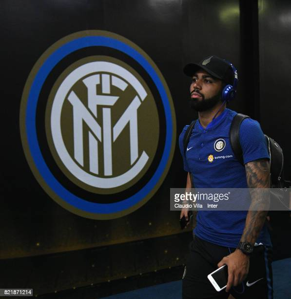 Gabriel Barbosa Almeida of FC Internazionale looks on prior to the 2017 International Champions Cup match between FC Internazionale and Olympique...