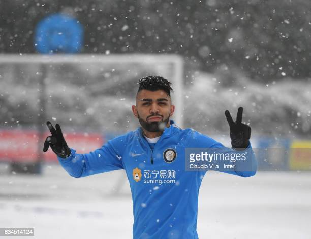 Gabriel Barbosa Almeida poses for a photo prior to the FC Internazionale training session at Suning Training Center at Appiano Gentile on February 10...