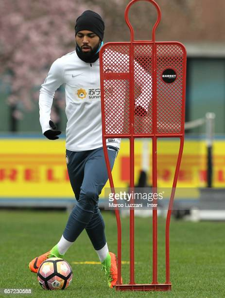 Gabriel Barbosa Gabigol of FC Internazionale Milano in action during the FC Internazionale training session at the club's training ground Suning...