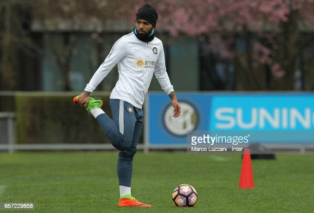 Gabriel Barbosa Gabigol of FC Internazionale Milano trains during the FC Internazionale training session at the club's training ground Suning...