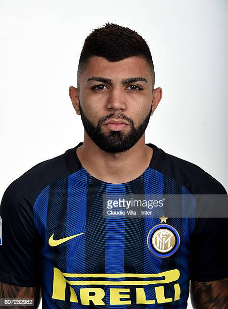 Gabriel Barbosa of FC Internazionale poses during the official portrait session at Appiano Gentile on September 17 2016 in Como Italy