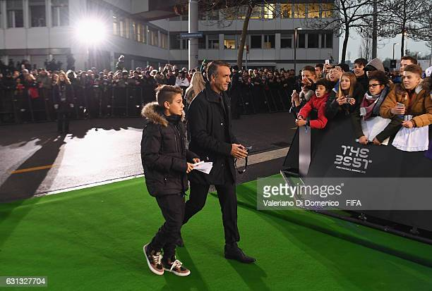 Gabriel Batistuta of Argentina arrives for The Best FIFA Football Awards at TPC Studio on January 9 2017 in Zurich Switzerland