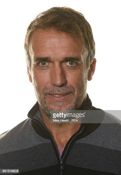 Gabriel Batistuta of Argentina poses prior to The Best FIFA Football Awards at Kameha Zurich Hotel on January 9 2017 in Zurich Switzerland