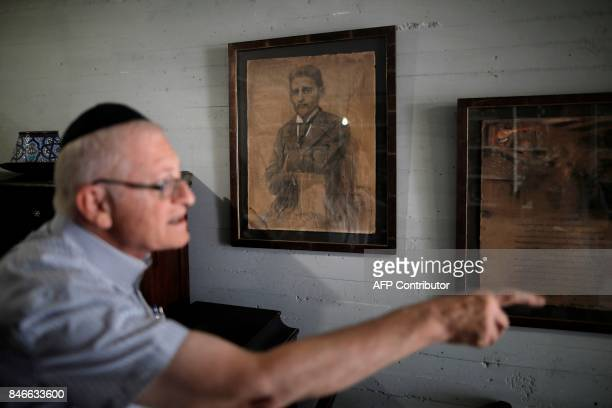 Gabriel Birnbaum senior researcher at Historical Dictionary Project at Israel's Academy of the Hebrew Language in Jerusalem stands in front of a...
