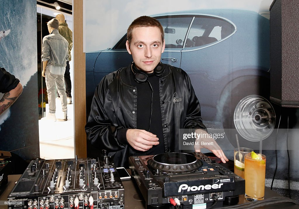 Gabriel Bruce DJs at the Gap Partnership with Lion Coffee + Records Launch Party at Gap Flagship Store, Oxford Street on February 10, 2016 in London, England.