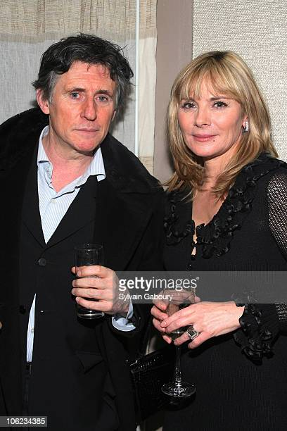 Gabriel Byrne and Kim Cattrall during 'Seraphim Falls' After Party Hosted by The Cinema Society at Soho Grand Penthouse at 310 West Broadway in New...