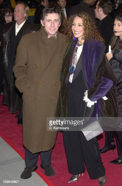 Gabriel Byrne and Marisa Berenson during The First Annual WorldTrAID911 Benefit at Hammerstein Ballroom in New York City at Hammerstein Ballroom in...