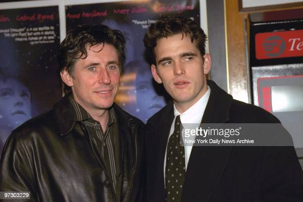 Gabriel Byrne and Matt Dillon attending premiere of Michael LindsayHogg's 'Frankie Starlight' at the Beekman Theater
