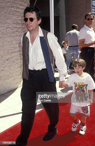 Gabriel Byrne and son Jack during Premiere of 'Baby's Day Out' at Mann's National Theater in Westwood California United States