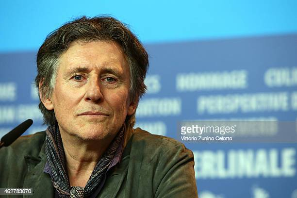 Gabriel Byrne attends the 'Nobody Wants the Night' press conference during the 65th Berlinale International Film Festival at Grand Hyatt Hotel on...