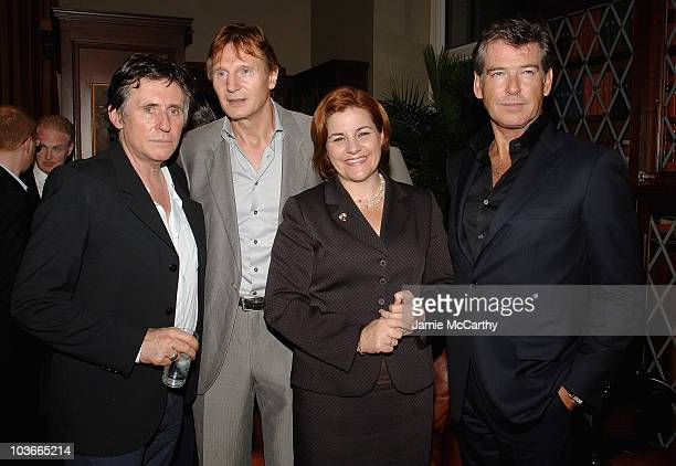 Gabriel Byrne Liam Neeson City Council Speaker Christine Quinn and Pierce Brosnan attend the 8th Annual Spirit of Ireland Awards Gala at The New York...