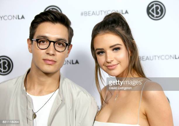 Gabriel Conte and Jess Conte attend Day 2 of the 5th Annual Beautycon Festival Los Angeles at the at Los Angeles Convention Center on August 13 2017...