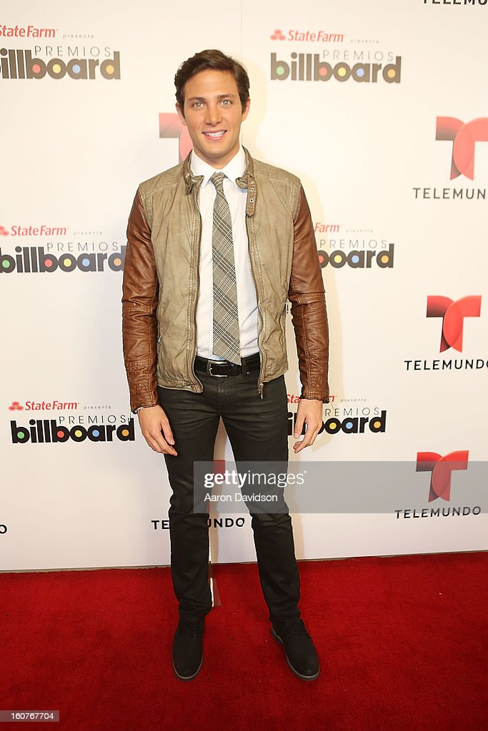Gabriel Coronel attends Telemundo and Premios Billboard 2013 Press Conference at Gibson Miami Showroom on February 5, 2013 in Miami, Florida.