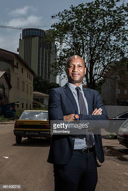 Gabriel Curtis director general at the agency for promotion of private investments poses for a photograph outside the APIP offices in Conakry Guinea...