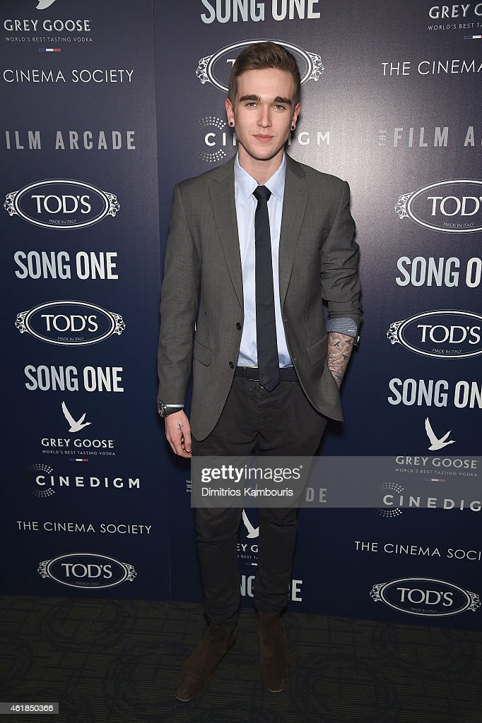 Gabriel Day Lewis attends the premiere of the Film Arcade & Cinedigm's 'Song One' hosted by the Cinema Society & Tod's at Landmark's Sunshine Cinema on January 20, 2015 in New York City.