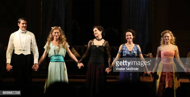 Gabriel Ebert Charlotte Parry Elizabeth McGovern Anna Camp and Anna Baryshnikov during the Broadway Opening Night performance Curtain Call Bows for...