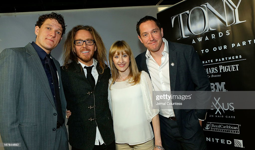 Gabriel Ebert, <a gi-track='captionPersonalityLinkClicked' href=/galleries/search?phrase=Tim+Minchin&family=editorial&specificpeople=2244352 ng-click='$event.stopPropagation()'>Tim Minchin</a>, Lauren Ward, and Bertie Carvel of 'Matilda the Musical' attend the 2013 Tony Awards Meet The Nominees Press Reception on May 1, 2013 in New York City.