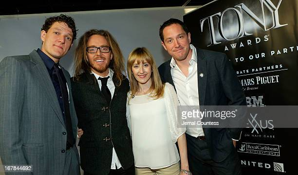 Gabriel Ebert Tim Minchin Lauren Ward and Bertie Carvel of 'Matilda the Musical' attend the 2013 Tony Awards Meet The Nominees Press Reception on May...
