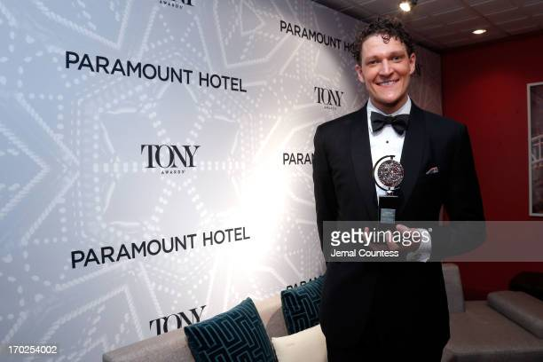 Gabriel Ebert winner of the Tony Award for Best Performance by an Actor in a Featured Role in a Musical for 'Matilda the Musical' attends The 67th...