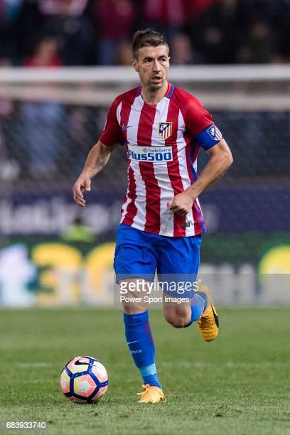 Gabriel Fernandez Arenas Gabi of Atletico de Madrid during the La Liga match between Atletico de Madrid vs Villarreal CF at the Estadio Vicente...