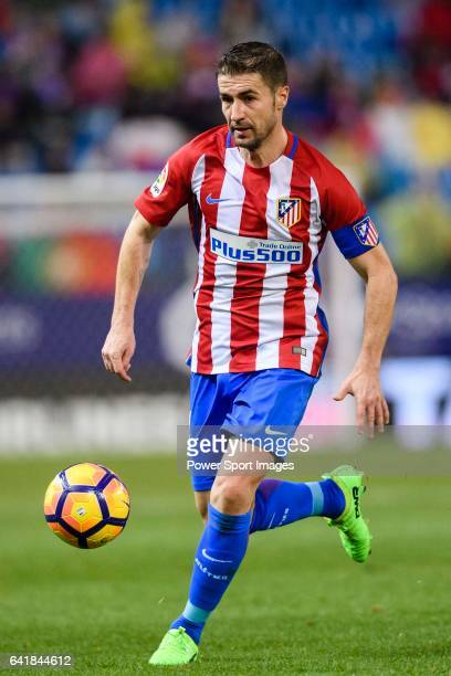Gabriel Fernandez Arenas Gabi of Atletico de Madrid in action during their La Liga match between Atletico de Madrid and RC Celta de Vigo at the...