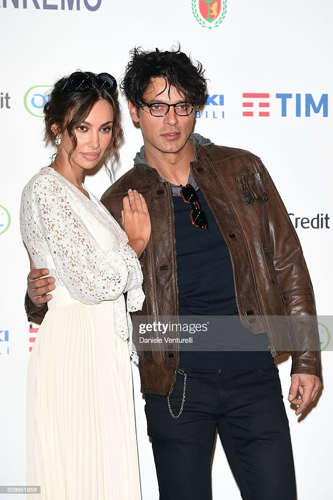 <a gi-track='captionPersonalityLinkClicked' href=/galleries/search?phrase=Gabriel+Garko&family=editorial&specificpeople=4811088 ng-click='$event.stopPropagation()'>Gabriel Garko</a> and Madalina Ghenea attend a photocall at 66. Sanremo Festival on February 13, 2016 in Sanremo, Italy.