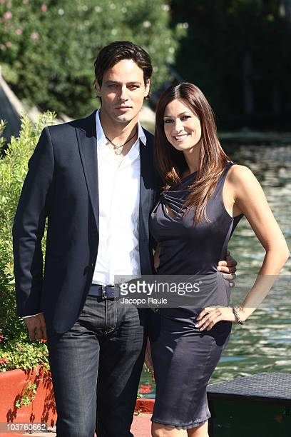 Gabriel Garko and Manuela Arcuri pose together during the opening day of the 67th Venice Film Festival on September 1 2010 in Venice Italy