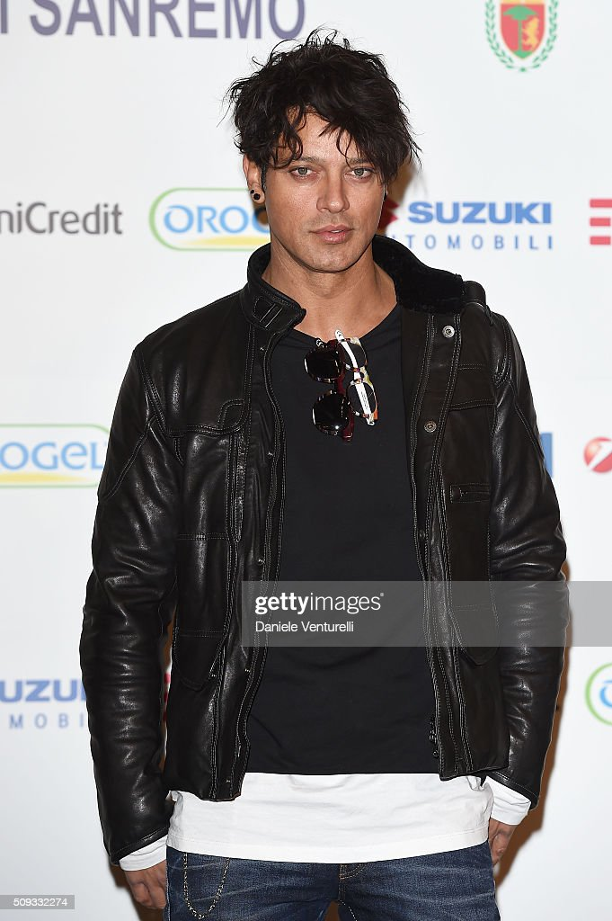 <a gi-track='captionPersonalityLinkClicked' href=/galleries/search?phrase=Gabriel+Garko&family=editorial&specificpeople=4811088 ng-click='$event.stopPropagation()'>Gabriel Garko</a> attends a photocall at 66. Sanremo Festival on February 10, 2016 in Sanremo, Italy.