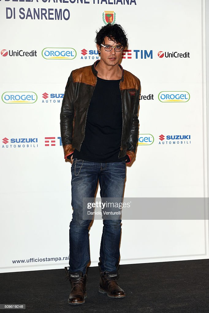 <a gi-track='captionPersonalityLinkClicked' href=/galleries/search?phrase=Gabriel+Garko&family=editorial&specificpeople=4811088 ng-click='$event.stopPropagation()'>Gabriel Garko</a> attends a photocall at 66. Sanremo Festival on February 11, 2016 in Sanremo, Italy.
