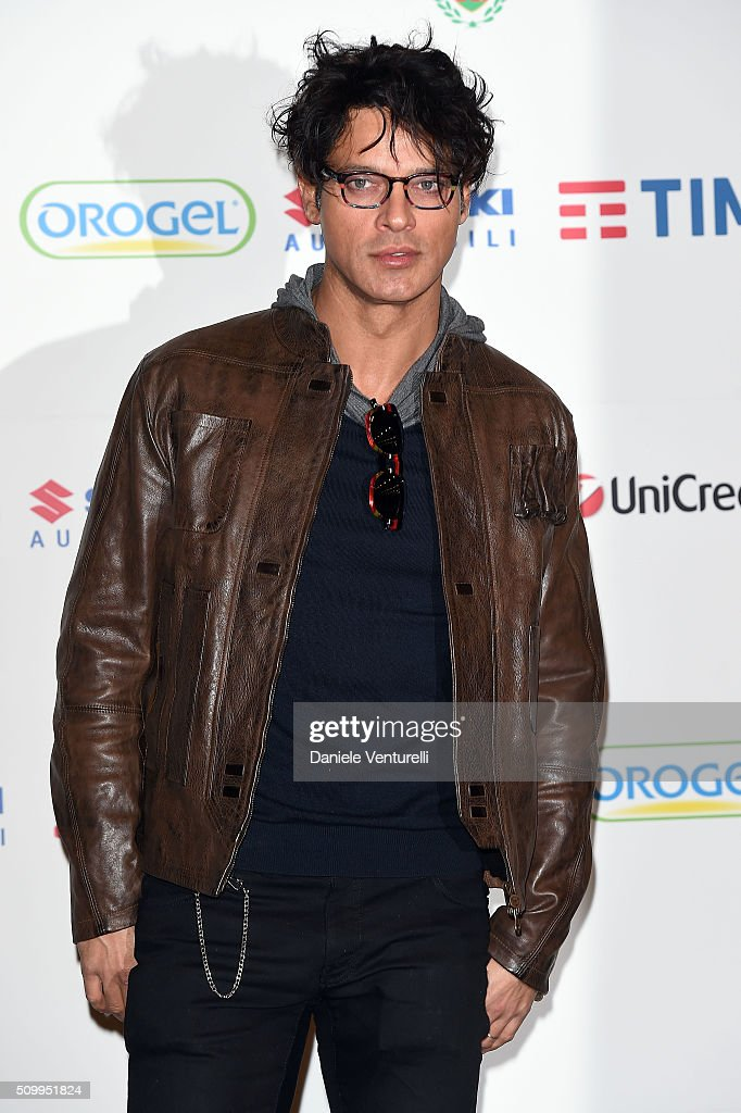 <a gi-track='captionPersonalityLinkClicked' href=/galleries/search?phrase=Gabriel+Garko&family=editorial&specificpeople=4811088 ng-click='$event.stopPropagation()'>Gabriel Garko</a> attends a photocall at 66. Sanremo Festival on February 13, 2016 in Sanremo, Italy.