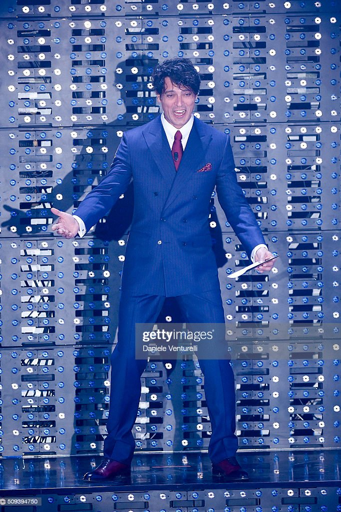 <a gi-track='captionPersonalityLinkClicked' href=/galleries/search?phrase=Gabriel+Garko&family=editorial&specificpeople=4811088 ng-click='$event.stopPropagation()'>Gabriel Garko</a> attends second night of the 66th Festival di Sanremo 2016 at Teatro Ariston on February 10, 2016 in Sanremo, Italy.