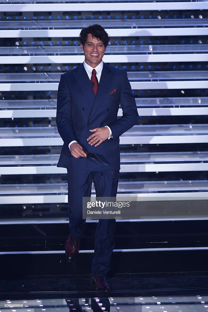 Gabriel Garko attends second night of the 66th Festival di Sanremo 2016 at Teatro Ariston on February 10, 2016 in Sanremo, Italy.