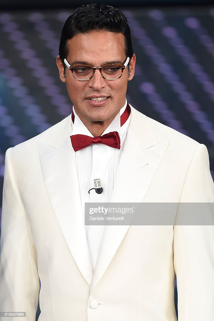 <a gi-track='captionPersonalityLinkClicked' href=/galleries/search?phrase=Gabriel+Garko&family=editorial&specificpeople=4811088 ng-click='$event.stopPropagation()'>Gabriel Garko</a> attends the closing night of 66th Festival di Sanremo 2016 at Teatro Ariston on February 13, 2016 in Sanremo, Italy.