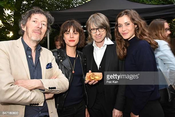 AD Gabriel Gaultier from Jesus and Gabriel Nadege Gaultier Frederic Rebet from Les maitres du Silence and Marie Camille Denjean attend the 'La Cafete...