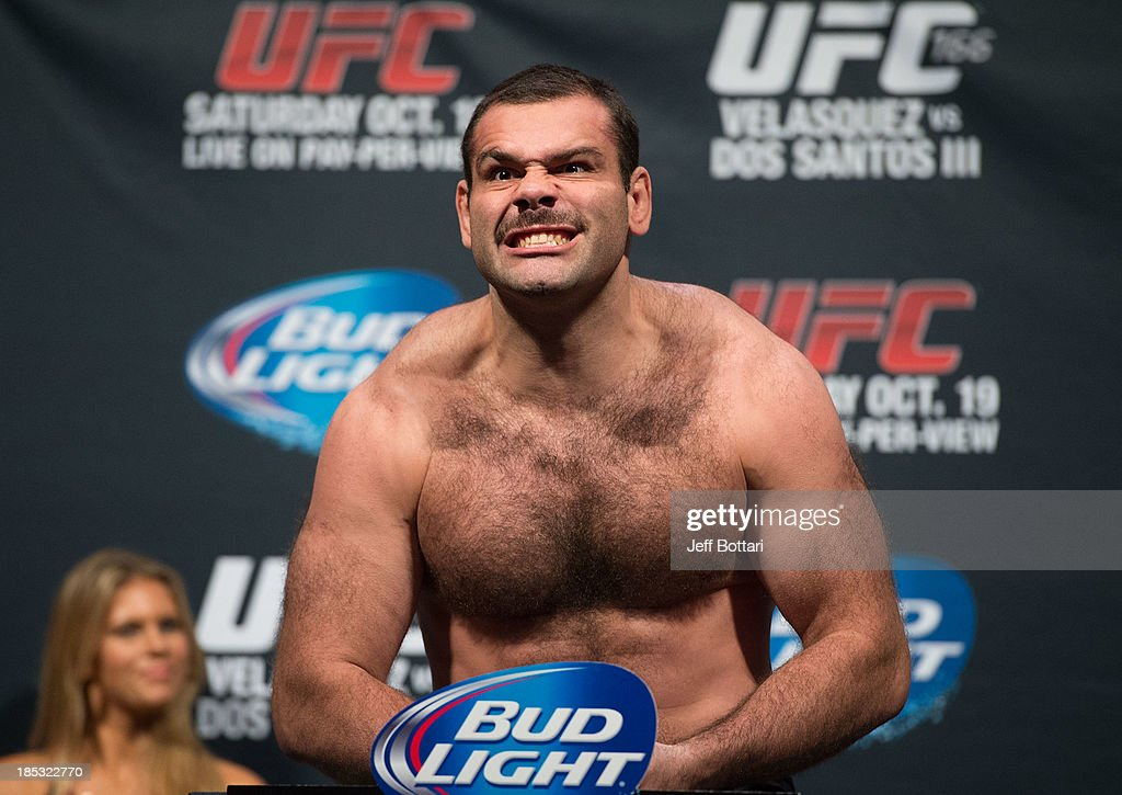 <a gi-track='captionPersonalityLinkClicked' href=/galleries/search?phrase=Gabriel+Gonzaga&family=editorial&specificpeople=4254256 ng-click='$event.stopPropagation()'>Gabriel Gonzaga</a> weighs in during the UFC 166 weigh-in at the Toyota Center on October 18, 2013 in Houston, Texas.