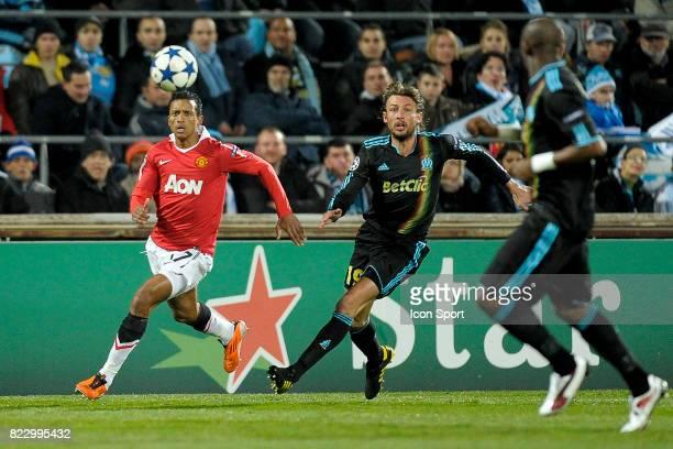 NANI Gabriel HEINZE Marseille / Manchester United 1/8 finale Champions League 2010/2011 Marseille
