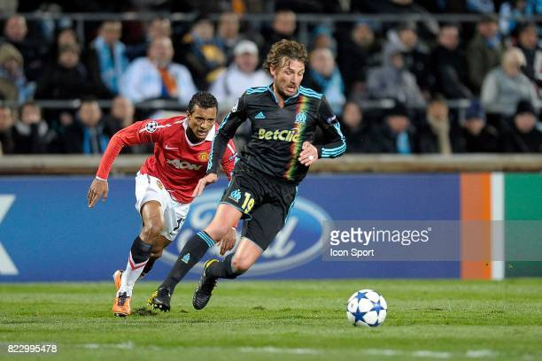 NANI / Gabriel HEINZE Marseille / Manchester United 1/8 finale Champions League 2010/2011 Marseille
