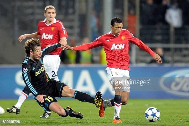 Gabriel HEINZE NANI Marseille / Manchester United 1/8 finale Champions League 2010/2011 Marseille