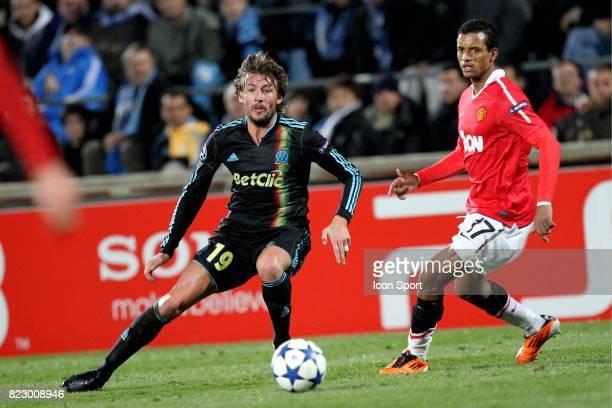Gabriel HEINZE / NANI Marseille / Manchester United 1/8 finale Champions League 2010/2011 Marseille