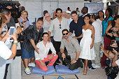 Gabriel Iglesias Matt Bomer Adam Rodríguez Joe Manganiello Channing Tatum and Jada Pinkett Smith attend Magic Mike XXL cast honored with stars on...