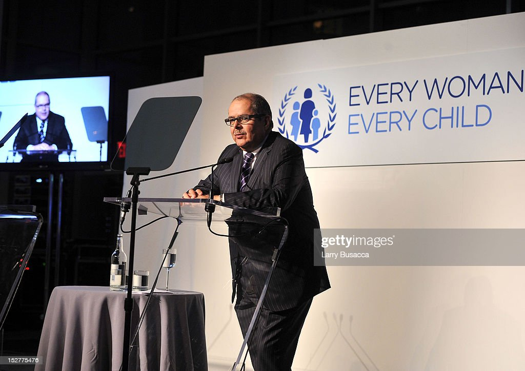 Gabriel Jaramillo speaks onstage at the United Nations Every Woman Every Child Dinner 2012 on September 25, 2012 in New York, United States.