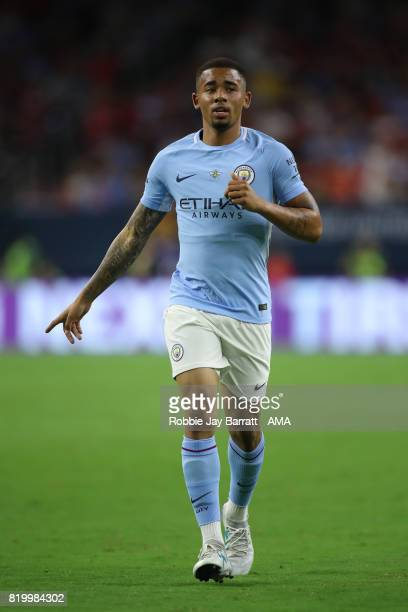 Gabriel Jesus of Manchester City during the International Champions Cup 2017 match between Manchester United and Manchester City at NRG Stadium on...