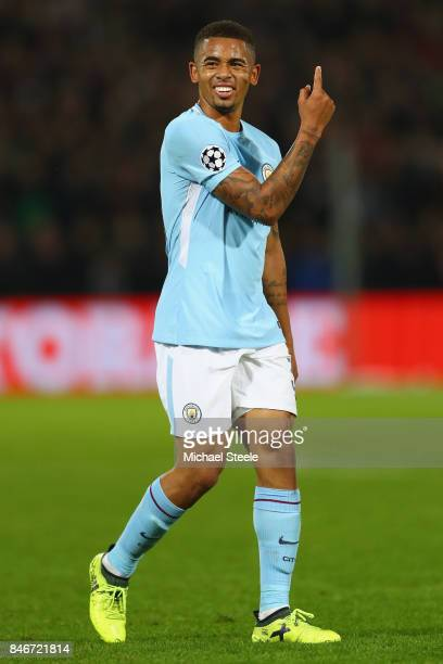 Gabriel Jesus of Manchester City during the UEFA Champions League group F match between Feyenoord and Manchester City at Feijenoord Stadion on...