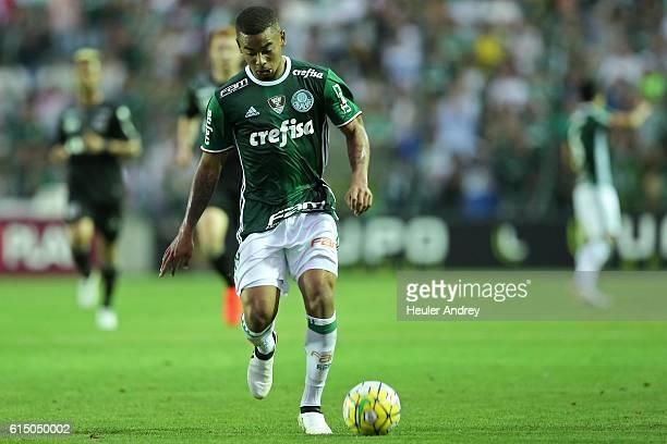Gabriel Jesus of Palmeiras during a match between Figueirense and Palmeiras as part of Brasileirao Series A 2016 at Orlando Scarpelli Stadium on...