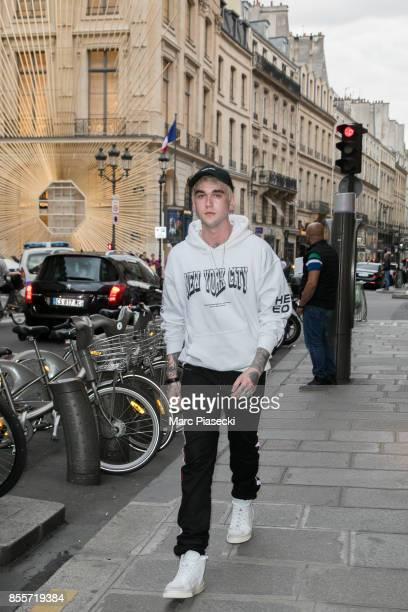 Gabriel Kane DayLewis is seen is seen during Paris Fashion Week dressed down wearing Hogan trainers on September 29 2017 in Paris France