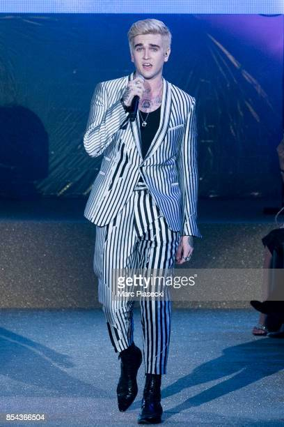 Gabriel Kane DayLewis performs during the Etam show as part of the Paris Fashion Week Womenswear Spring/Summer 2018 on September 26 2017 in Paris...